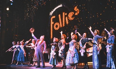 The cast of Follies at the Shaftesbury Theatre, 1987