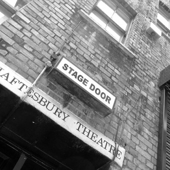 Stage door of the theatre